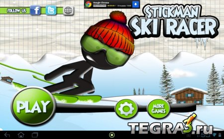 Stickman Ski Racer  (Ads-Free/Unlimited Coins)